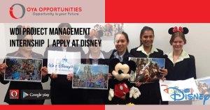 WDI Project Management Internship | Apply at Disney