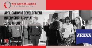 Application & Development Internship | Apply at Zeiss Group