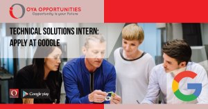 Technical Solutions Internship | Apply at Google