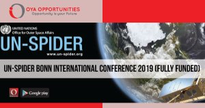 UN-SPIDER Bonn International Conference 2019 (Fully Funded)