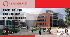 Rowan University Data Collection Specialist Internship
