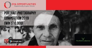 Portrait Photography Competition 2019 [win $10,000]