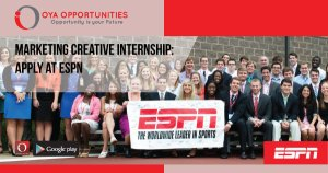 Marketing Creative Internship | Apply at ESPN