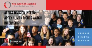 Africa Division Intern | Apply Human Rights Watch Internship