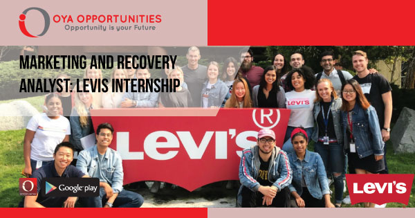 Marketing and Recovery Analyst | Levis Internship