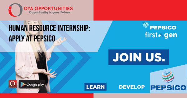 Human Resource Internship | Apply at PepsiCo