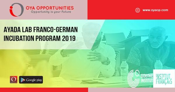 Ayada Lab Franco-German Incubation Program 2019