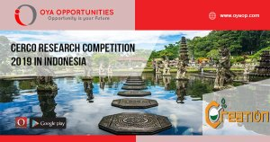 CERCO Research Competition 2019 in Indonesia