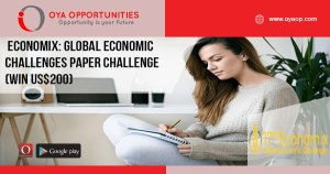 Economix: Global Economic Challenges Paper Challenge(win US$200)