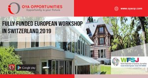 Fully Funded European Workshop in Switzerland,2019
