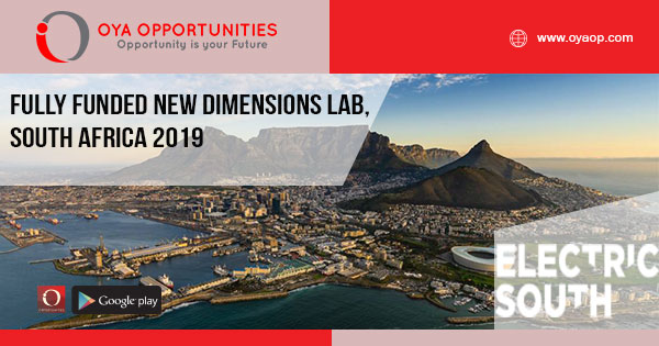 Fully Funded New Dimensions Lab, South Africa 2019