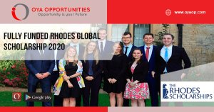 Fully Funded Rhodes Global Scholarship 2020