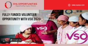 Fully Funded Volunteer Opportunity With VSO 2020