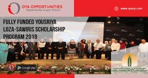 Fully Funded Yousriya Loza-Sawiris Scholarship Program 2019