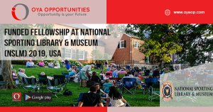 Funded Fellowship at National Sporting Library & Museum (NSLM) 2019, USA