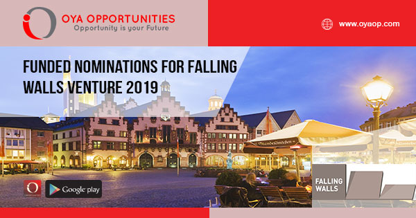 Funded Nominations for Falling Walls Venture 2019
