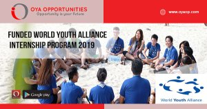 Funded World Youth Alliance Internship Program 2019