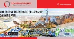 GOT Energy Talent (GET) Fellowship 2019 in Spain