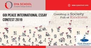 Goi Peace International Essay Contest 2019