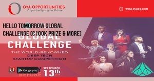 Hello Tomorrow Global Challenge (€100K prize & more)