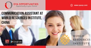 Communication Assistant at World Resources Institute, China