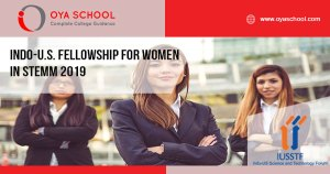 Indo-U.S. Fellowship for Women in STEMM 2019