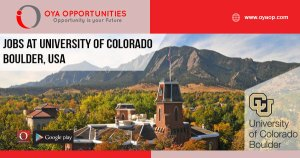 Jobs at University of Colorado Boulder, USA