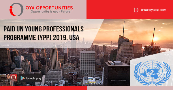 Paid UN Young Professionals Programme (YPP) 2019, USA