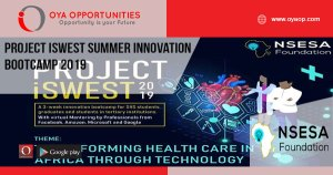 Project iSWEST Summer Innovation Bootcamp 2019