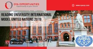 Reading University International Model United Nations 2019
