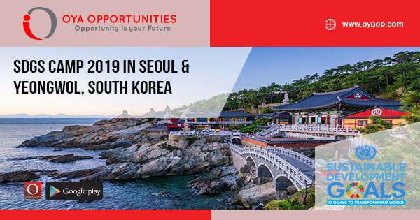 SDGs CAMP 2019 in Seoul & YeongWol, South Korea
