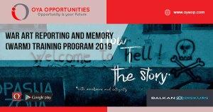 War Art Reporting and Memory (WARM) training program 2019