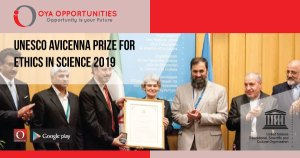 UNESCO Avicenna Prize for Ethics in Science 2019