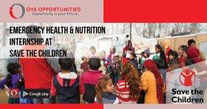 Emergency Health & Nutrition Internship at Save the Children