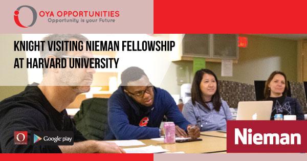 Knight Visiting Nieman Fellowship at Harvard University
