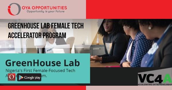 GreenHouse Lab Female Tech Accelerator Program