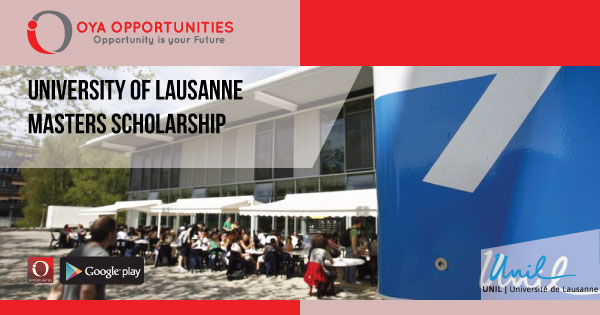 University of Lausanne Masters Scholarship (partially funded)