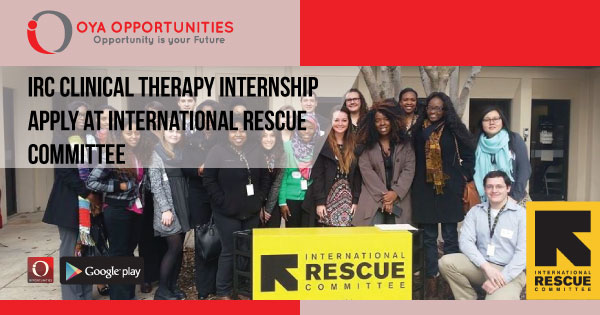 IRC Clinical Therapy Internship | Apply at International Rescue Committee