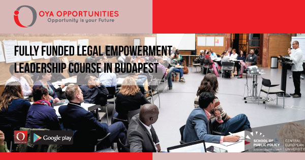 Fully Funded Legal Empowerment Leadership Course in Budapest