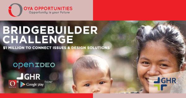 GHR BridgeBuilder Challenge 2019 (win $1million in Seed Fund)