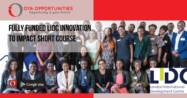Fully Funded LIDC Innovation to Impact Short Course