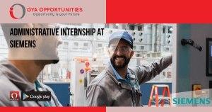 Administrative Internship at Siemens