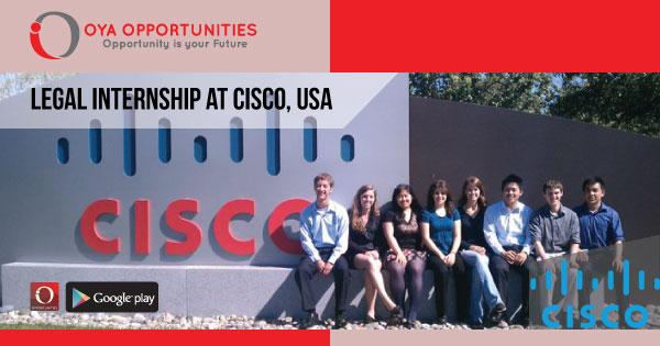 Legal Internship at Cisco, USA