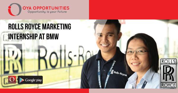Rolls Royce Marketing Internship at BMW