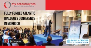 Fully Funded Atlantic Dialogues Conference in Morocco