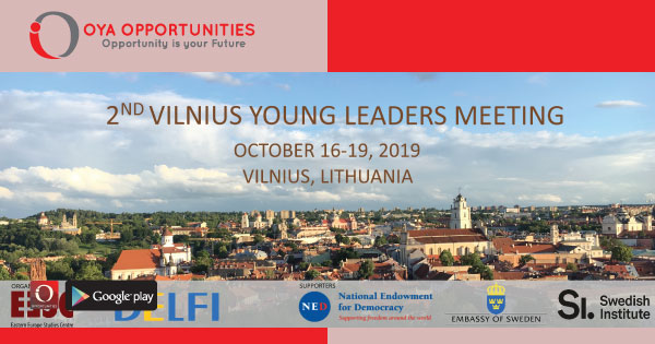 Fully Funded Vilnius Young Leaders Meeting 2019
