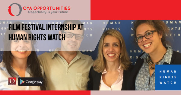 Film Festival Internship at Human Rights Watch