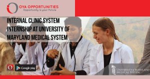 Internal Clinical System Internship at University of Maryland
