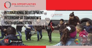 International Development Internship at Tomorrow's Youth Organization