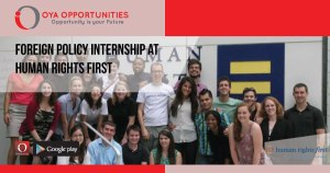 Foreign Policy Internship at Human Rights First
